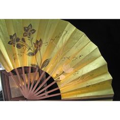 Vintage Japan Air Lines Advertising Paper Fan, PrettyJapanese Artistry... ($19) ❤ liked on Polyvore featuring home and home decor