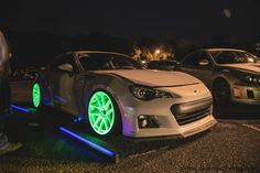 Glow in the Dark Rims Subaru BR-Z.....love these cars but not too hot about the glow in the dark rims