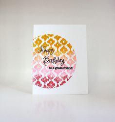 Handmade Birthday Card for Friends: Happy by MadeByMayaCards