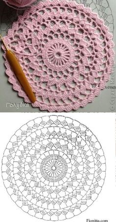 Material: 2 cones do fio Liza Amo tapetes desse modelo e nes Crochet pattern for Abigail rug, size A pdf file will be sent to your email instantly after payment is received. The pattern is written very clearly upon 7 pages and includes a crochet chart. Crochet Doily Rug, Crochet Placemats, Crochet Pillow Pattern, Crochet Mandala Pattern, Crochet Doily Patterns, Crochet Chart, Thread Crochet, Free Crochet, Knitting Patterns