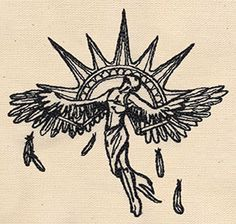 Items similar to Embroidered Cotton Kitchen Towel - Icarus (Greek mythology) on Etsy Tattoo Drawings, Body Art Tattoos, Small Tattoos, Art Drawings, Tattoo Sketches, Tatoos, Black Tattoos, Sleeve Tattoos, Icarus Greek Mythology