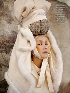 """Women in Folk Painting,"" Vogue Korea January 2013, shot by Koo Bohn Chang #voguekorea"