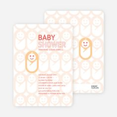 Swaddle Me This Baby Shower Invitations from Paper Culture