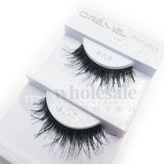 MyWholesaleFashion.com - Creme 100% Human Hair Eyelashes