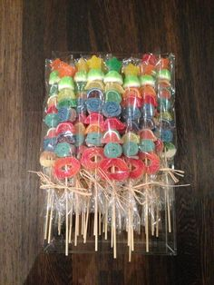 Mouthwatering tropical Candy Kabobs by www.candybarcouture.com