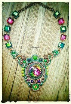 Soutache necklace by Danishqueen