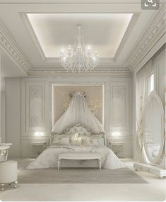 Stunning fairytale white bedroom design with a golden touch | www.masterbedroomideas.eu #masterbedroomideas #bedroomideas #goldbedrooms #whiteandgoldbedrooms #bedroomdesign #designideas