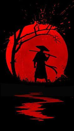 Samurai Wallpaper, Naruto Wallpaper, Cool Anime Wallpapers, Animes Wallpapers, Scenery Wallpaper, Dark Wallpaper, Dark Fantasy Art, Dark Art, Japanese Wallpaper Iphone