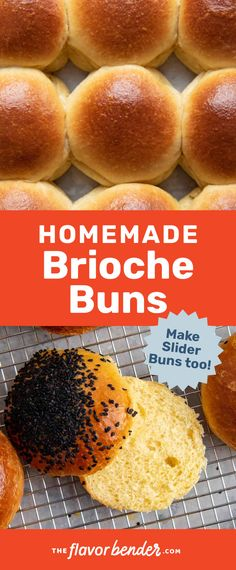 This is the best tutorial for making soft, buttery brioche buns!  You can make large, regular sized buns or sliders for parties. This step by step recipe makes it easy. #BriocheBread #BriocheBuns #BurgerBuns #BriocheSliders #SliderBuns