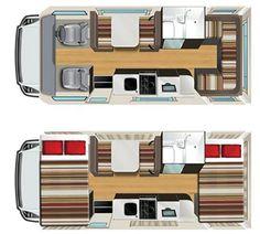 Image result for plan of 4 berth campervan