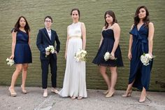 Bridesmaid in pants! Photo by Smitten Chickens