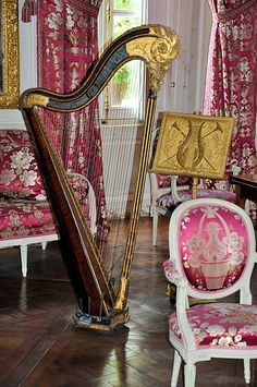 Petit Trianon (located on the grounds of Versailles Palace) - Salon de compagnie & instruments.