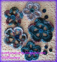 crochet flowers PAP.