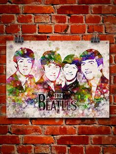 The Beatles In Color Poster Home Decor Gift Idea by Agedpixel