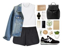 """#u01"" by styledbybruni ❤ liked on Polyvore featuring T By Alexander Wang, Monki, MANGO, Gingko Electronics, PENHALIGON'S, Pomax, Muji, Call it SPRING, New Balance and NARS Cosmetics"