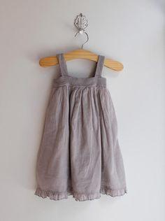 Pigve simple gray summer dress