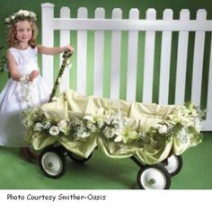 Amazing wedding wagon great for pulling younger kids Made this