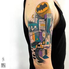 #sketchtattoo #tattoo #tattoodo #graphic #illustration #illustrationtattoo  #tattrx #sketchytattoo #sketch #colourtattoo #polandtattoo #tetování #tatuaggio #tatovering #tätowierung #gotham #gothamcity #batman #batmantattoo Poland Tattoo, Sketchy Tattoo, Batman Tattoo, Colour Tattoo, Gotham City, Tattoo Sketches, Graphic Illustration, Tatting, Tank Man