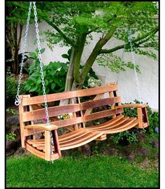 Barrel Porch Swing Diy Furniture Chairs Plans Outdoor Wine