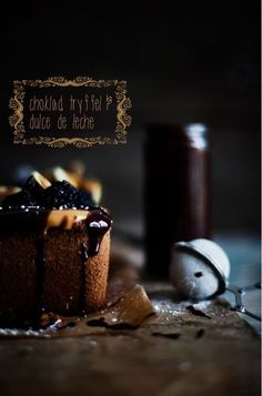 ... chocolate cake with dulce de leche ...