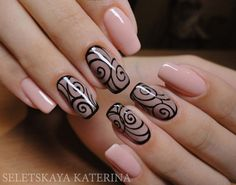Looking for new nail art ideas for your short nails recently? These are awesome designs you can realistically accomplish–or at least ideas you can modify for your own nails! Fabulous Nails, Gorgeous Nails, Pretty Nails, Fun Nails, Sexy Nails, Lace Nail Art, Lace Nails, Beige Nails, Nail Art Design Gallery