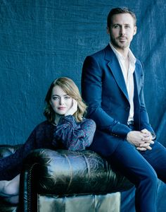 "emstonesdaily: ""Emma Stone and Ryan Gosling photographed by Matthew Brookes. """