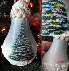 Christmas Tree Bulb-wonderful DIY