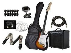 California Classic Sunburst Guitar with Bag, 20-Watt Amp, Turner and Accessories: $149.99   $299.99   (27 Available) End Date: Jul 15,2016…