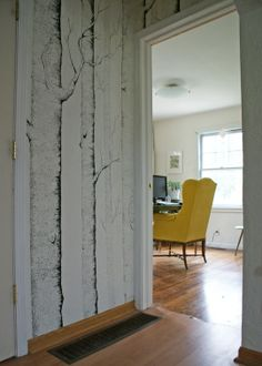 Wallpaper trees with sharpies!