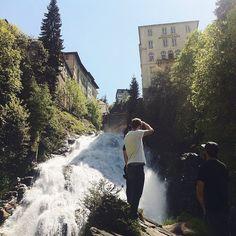 Impromtu Team Lunch Breaks By The Waterfall. Because, Why Not. #badgastein #munichandthemountains