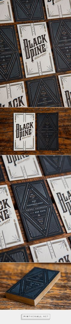 BlackPine Development Business Card Design by Device Creative Collaborative | Fivestar Branding Agency – Design and Branding Agency & Curated Inspiration Gallery