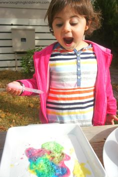 Fizzy science experiment for kids - Laughing Kids Learn