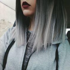 New Hair Gray Balayage Highlights 17 Ideas About Hair, Silver Hair, Gorgeous Hair, Hair Type, Hair Looks, Dyed Hair, Hair Inspiration, Short Hair Styles, Hair Beauty