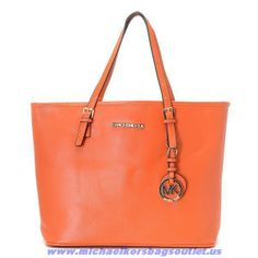 Buy Michael Kors Orange Leather Bag