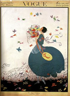 Vogue Cover, 1916, illustrated by Helen Dryden.