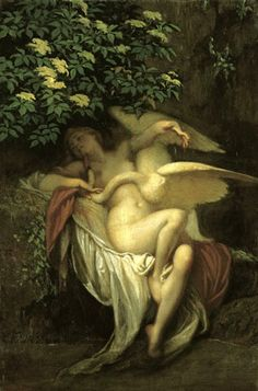 Szekely (1835-1910). Leda and the Swan - Leda was the wife of the king of Sparta and the god Zeus seduced her in the guise of a swan.