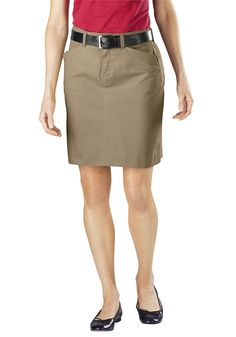 1dd65b8ffc Dickies Women's 20 Inch Stretch Twill Skirt. Women's Fashion Outfits