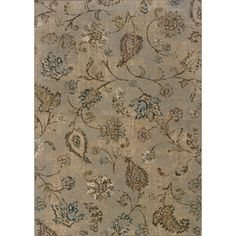 Indoor Blue and Beige Area Rug | Overstock.com Shopping - Great Deals on Style Haven 7x9 - 10x14 Rugs