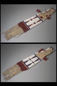 Сумка для трубки, Оглала. Пайн Ридж, 1902 год. Кларк Висслер.