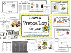 I Have a Preposition For You! Prepositions in First Grade (freebie, too) - First Grade Blue Skies