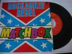 DISCO SINGLE MATCHBOX - ROCKABILLY REBEL / I DON'T WANNA BOOGIE ALONE - SINGLE MAGNET 1980
