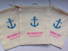 Bachelorette Hangover Kit Bags NAUTICAL Set by PaperPeonyDesigns, $12.50