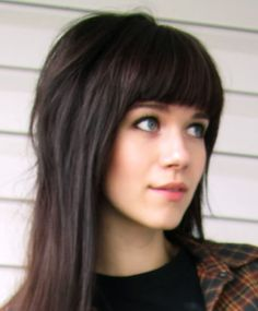 my bangs never look like this when I try to pull this off.
