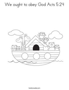 We ought to obey God Acts 5:24 Coloring Page - Cursive - Twisty Noodle