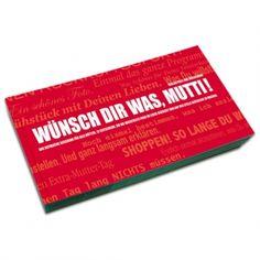 Gutscheinbuch für Mütter: WÜNSCH DIR WAS, MUTTI!  Erfindungen und Mehr via http://shop.erfinderladen.com/