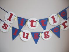 Little Slugger Baseball Party Banner by iecreations on Etsy, $18.50