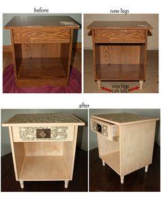A nightstand redo