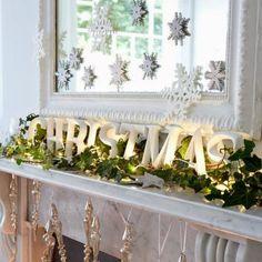 lovely - Christmas mantels