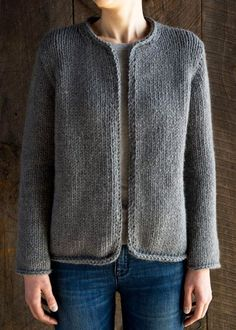 Classic Knit Jacket knitting pattern by Purl Soho.How happy I would be if I could knit this: Purl SohoFree Knitting Pattern for Easy Knit Cardigan Pattern, Sweater Knitting Patterns, Crochet Poncho, Jacket Pattern, Knit Patterns, Free Knitting, Vogue Knitting, Knitting Needles, Knit Shrug