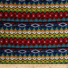 Hatchi Lightweight Sweater Knit Tribal from @fabricdotcom  This hatchi knit fabric is slightly textured and brushed, with 50% stretch on the grain and 15% on the vertical for comfort and ease. Perfect for t-shirts and lightweight cardigans.